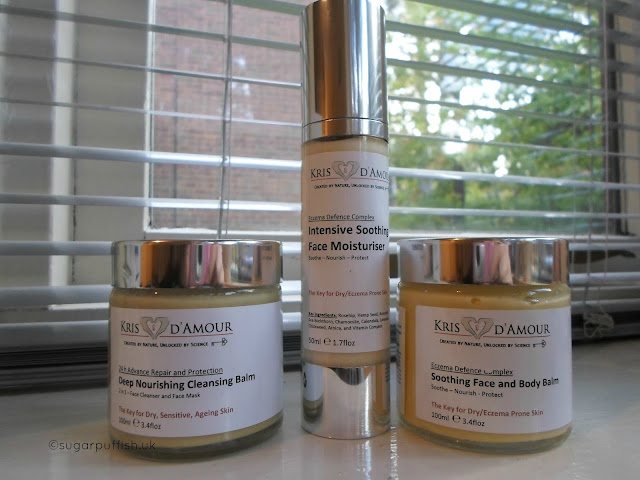 Kris D'Amour Intensive Soothing Face Moisturiser Deep Nourishing Cleansing Balm Review Vegan