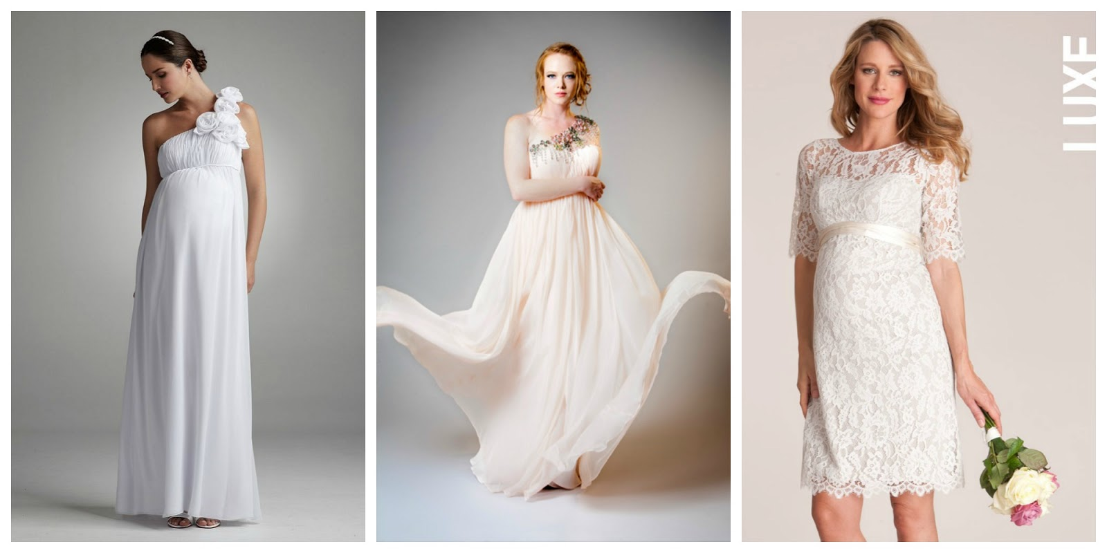 Wedding wednesday maternity wedding fashion guest post for Wedding guest pregnancy dresses