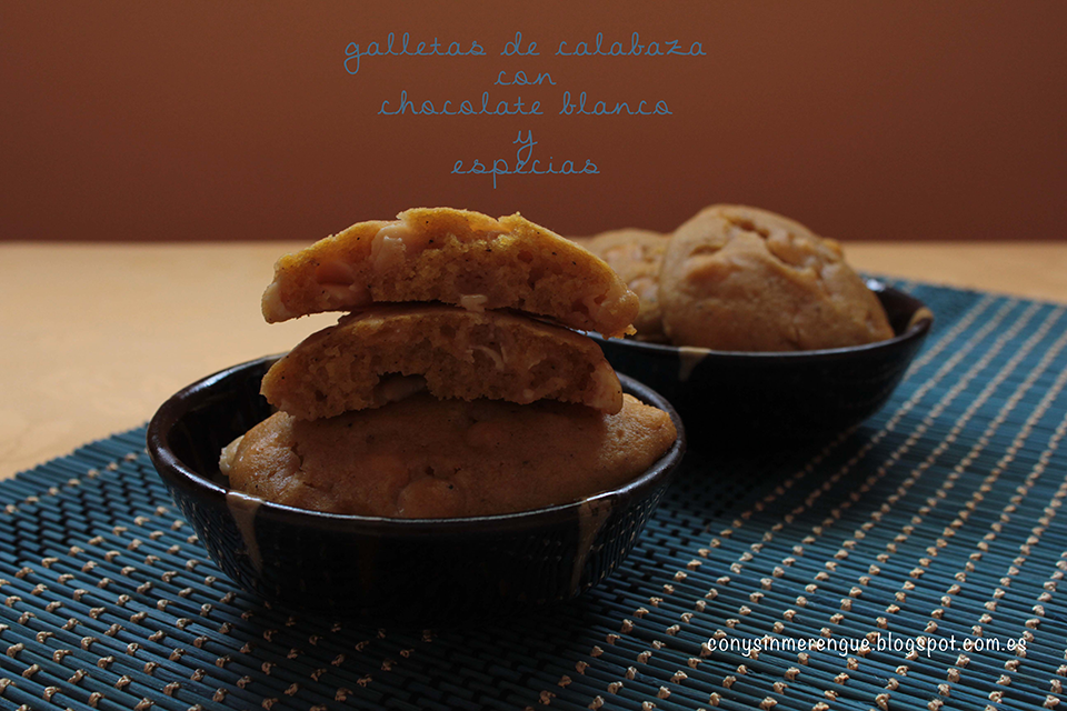 Galletas de Calabaza con chocolate blanco y especias