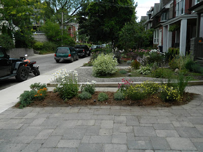 Leslieville front garden after  Paul Jung Toronto Gardening Services