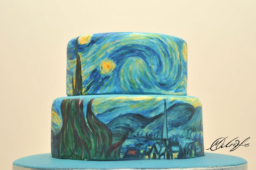 01-Vincent-Van-Gogh-The-Starry-Night-Maria-A-Aristidou-Food-Art-good-to-Look-at-and-good-Eat-www-designstack-co
