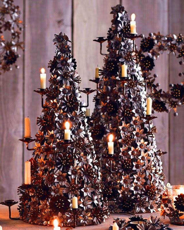 Christmas candelabra centerpiece decoration modern