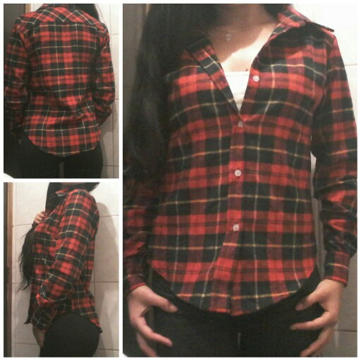 Womens flannel shirt classic red plaid shirts june 2015 Womens red tartan plaid shirt