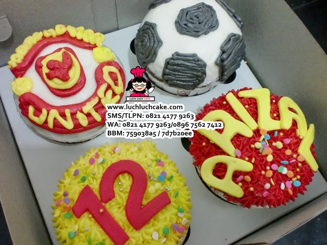 Cupcake Buttercream Manchester United Daerah Surabaya - Sidoarjo