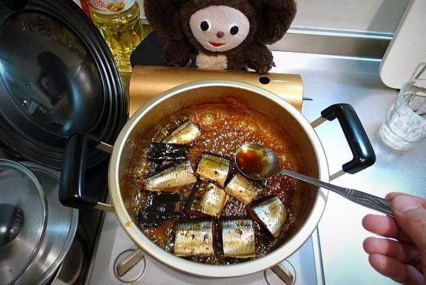 サンマ山椒煮の作り方(2)