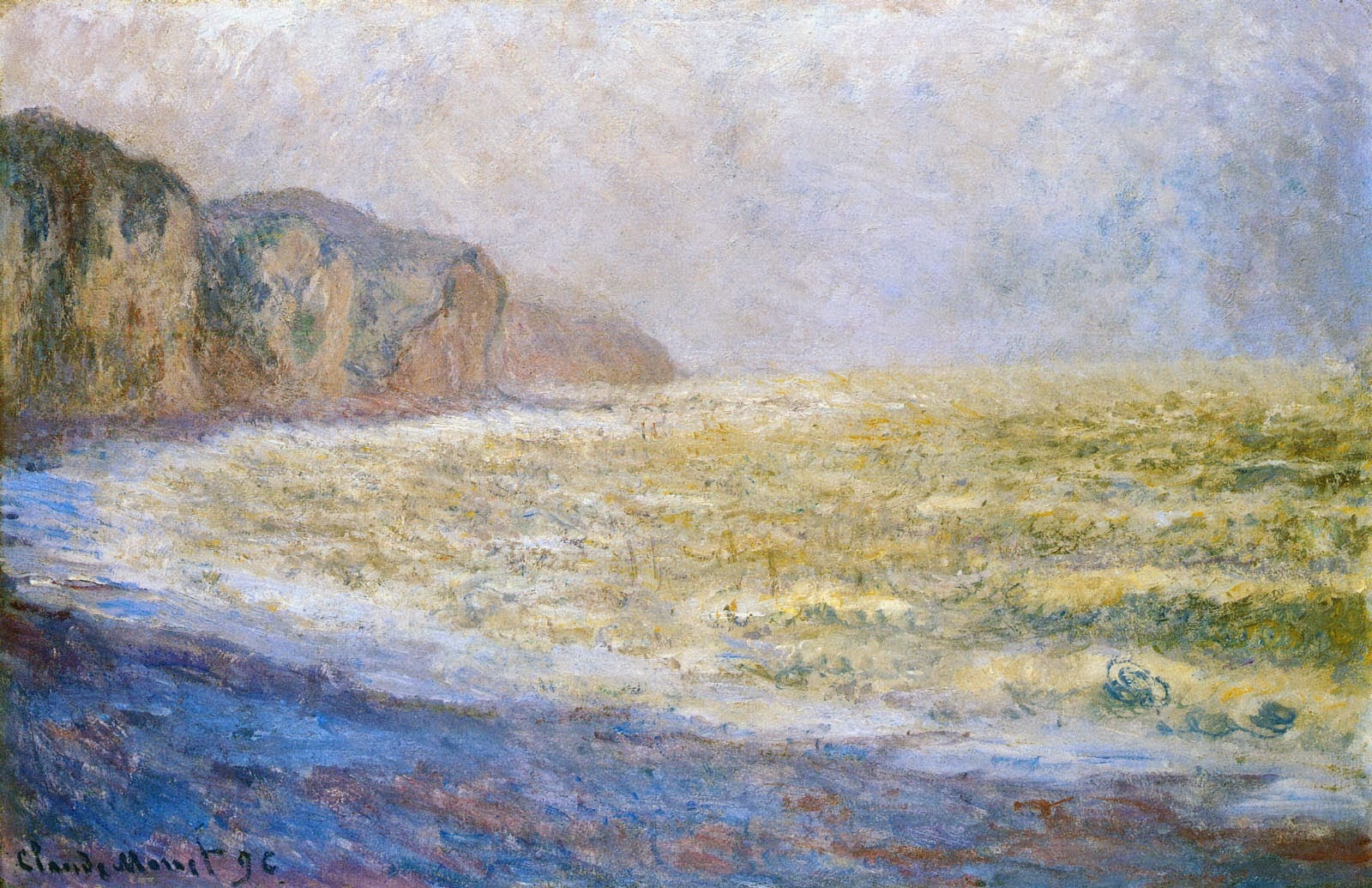 Falaise à Pourville (1896)