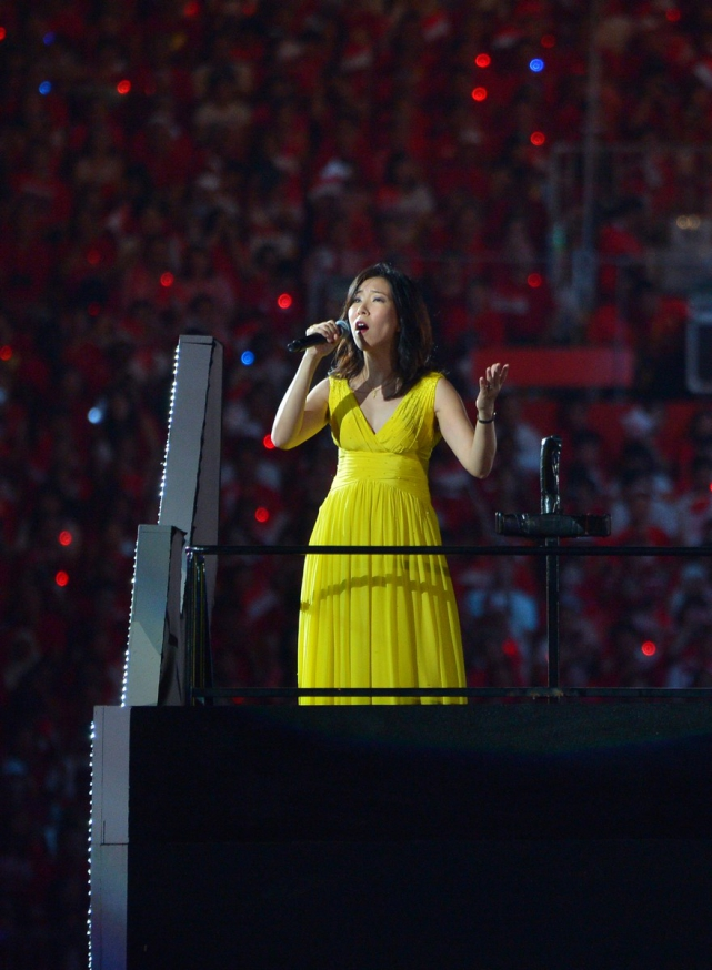 Singer Corrine May performed Song for Singapore