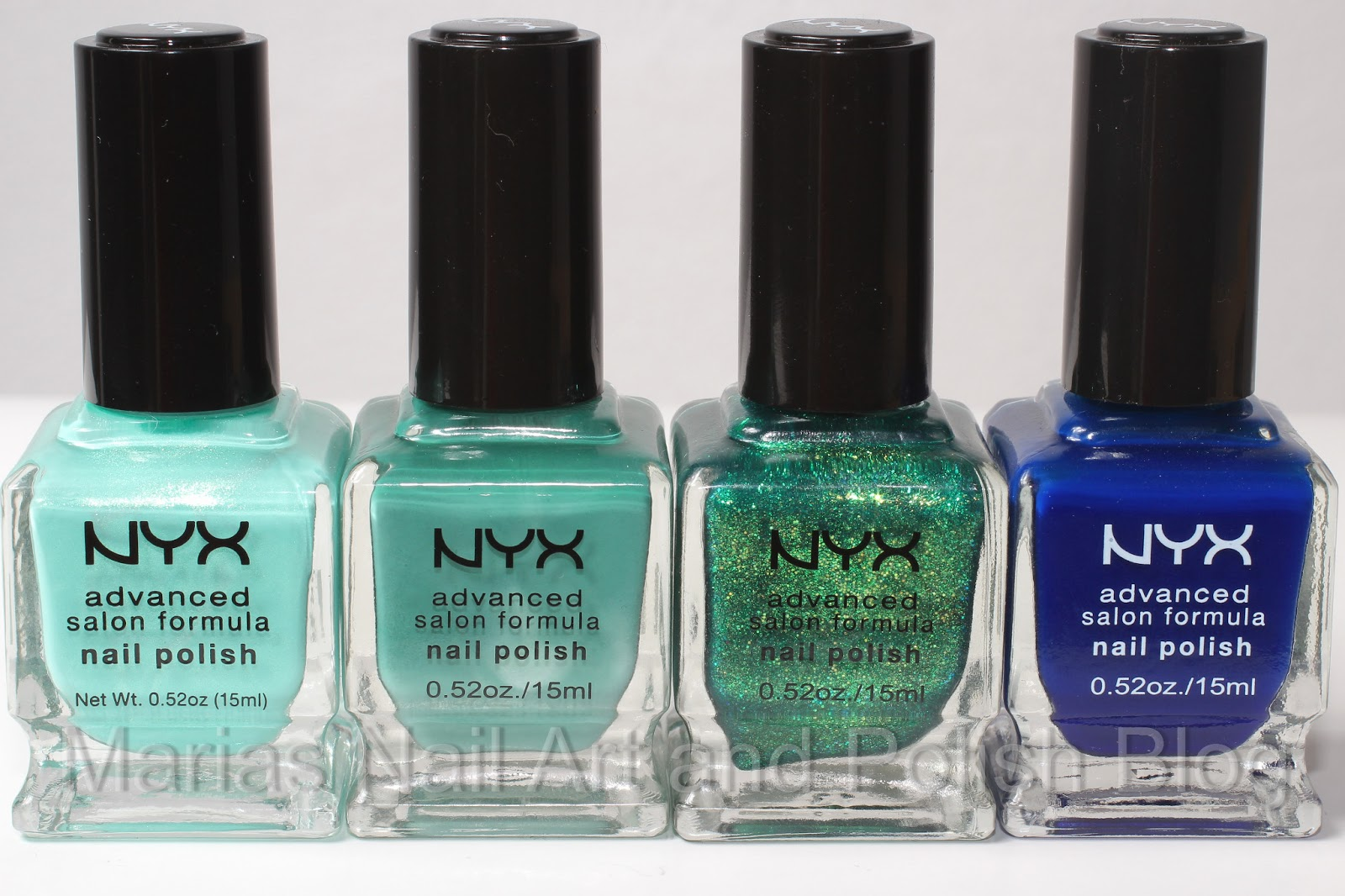 Marias Nail Art and Polish Blog: NYX Ink, Jade, Enchanted Forest and ...