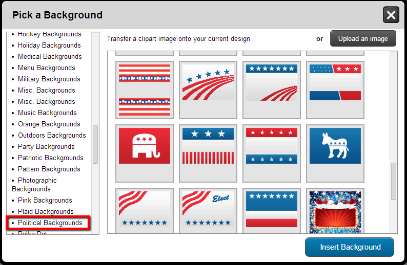 Political Backgrounds for Yard Signs