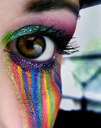 Colorful Rainbow Shade Eye Makeup
