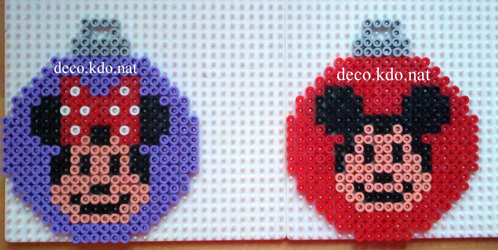 deco kdo nat perles hama boules de no l mickey minnie. Black Bedroom Furniture Sets. Home Design Ideas