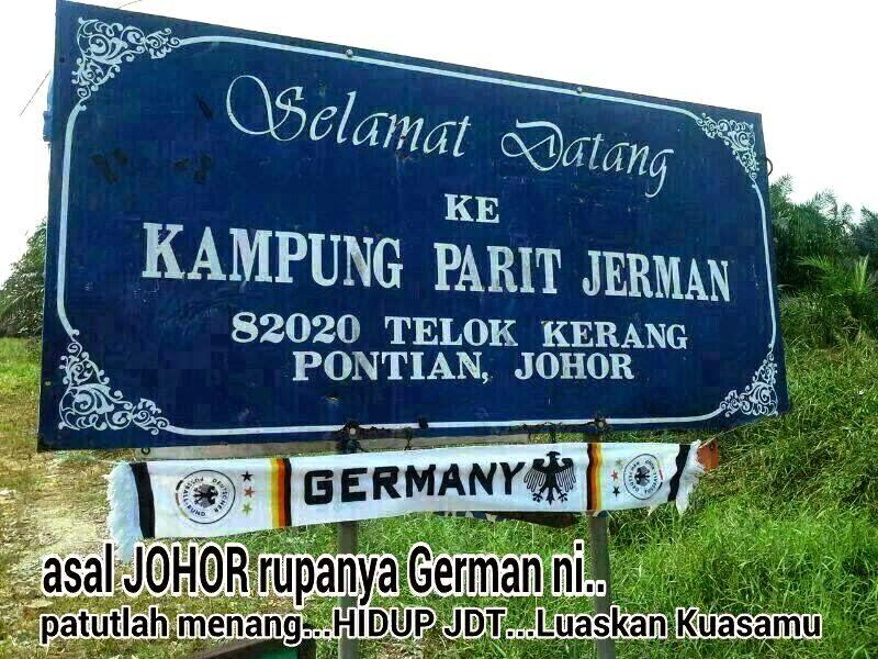 Penyokong Jerman di Kampung Parit Jerman, Teluk Kerang, Pontian, Johor