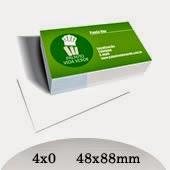 Cartão de Visita 4x0 - Frente Colorido Verso Branco