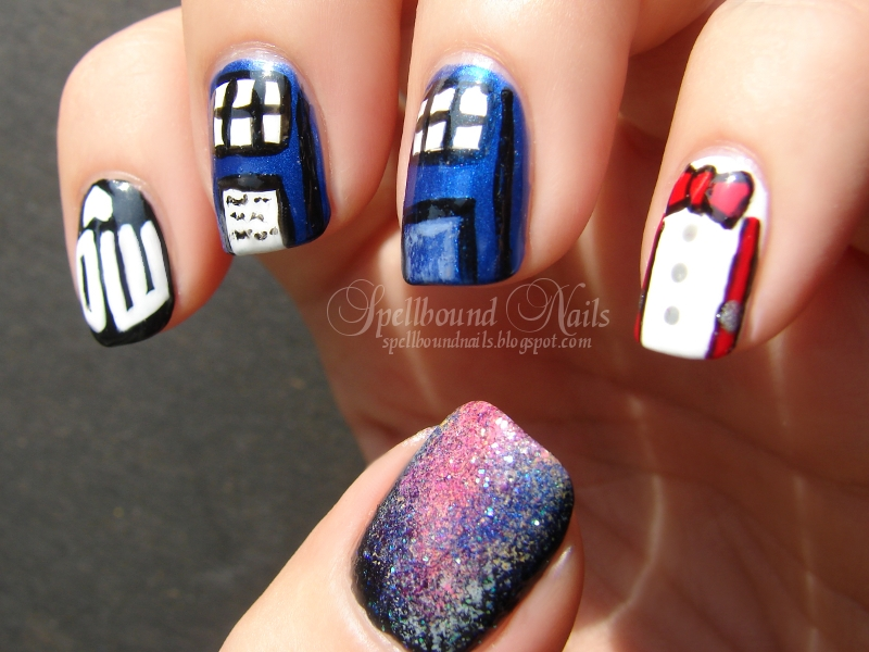 Nail Art Style Doctor Who Season Premiere