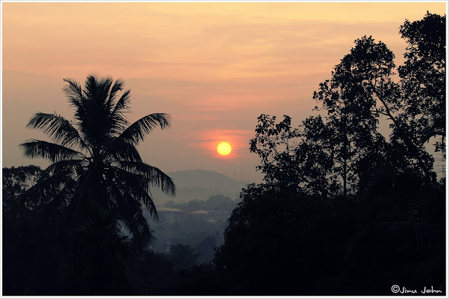 Sunrise from home adoor