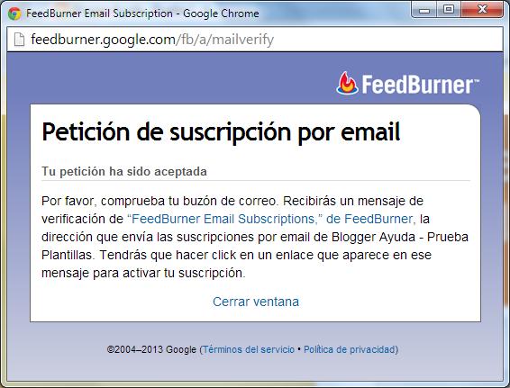 Petición aceptada en español