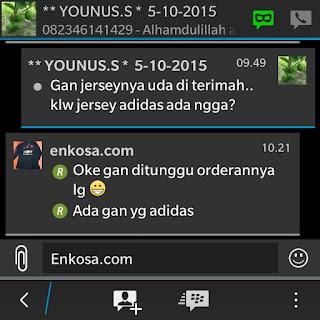 gambar screenshot testimoni untuk enkosa sport Testimoni Yunus samad di enkosa sport toko online terpercaya lokasi di pasar tanah abang toko jersey terpercaya