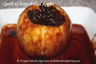 serve baked apple warm