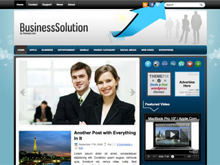 Free BusinessSolution WordPress Theme
