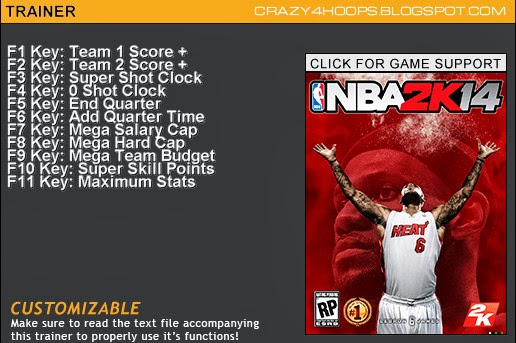 nba 2k14 11 trainer cheats