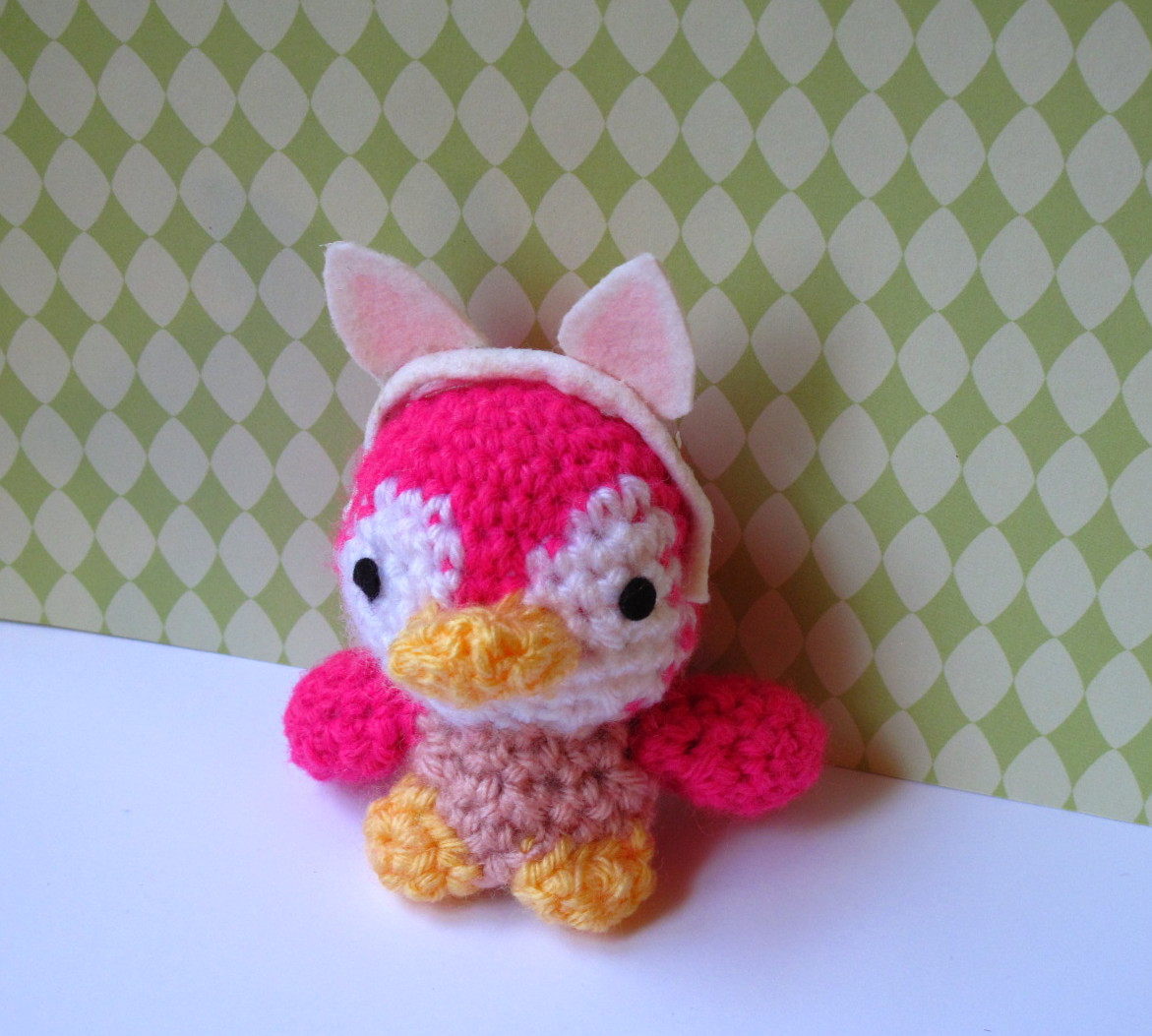 Amigurumi Crochet Designers : Eve Leder, Craft Designer : Bunny Ears for Petunia Penguin