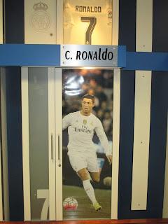 Local Reservado Para Cristiano Ronaldo no Vestiário do Real Madrid