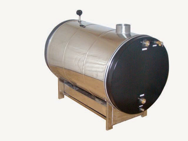 Wood fired heater for swimming pool