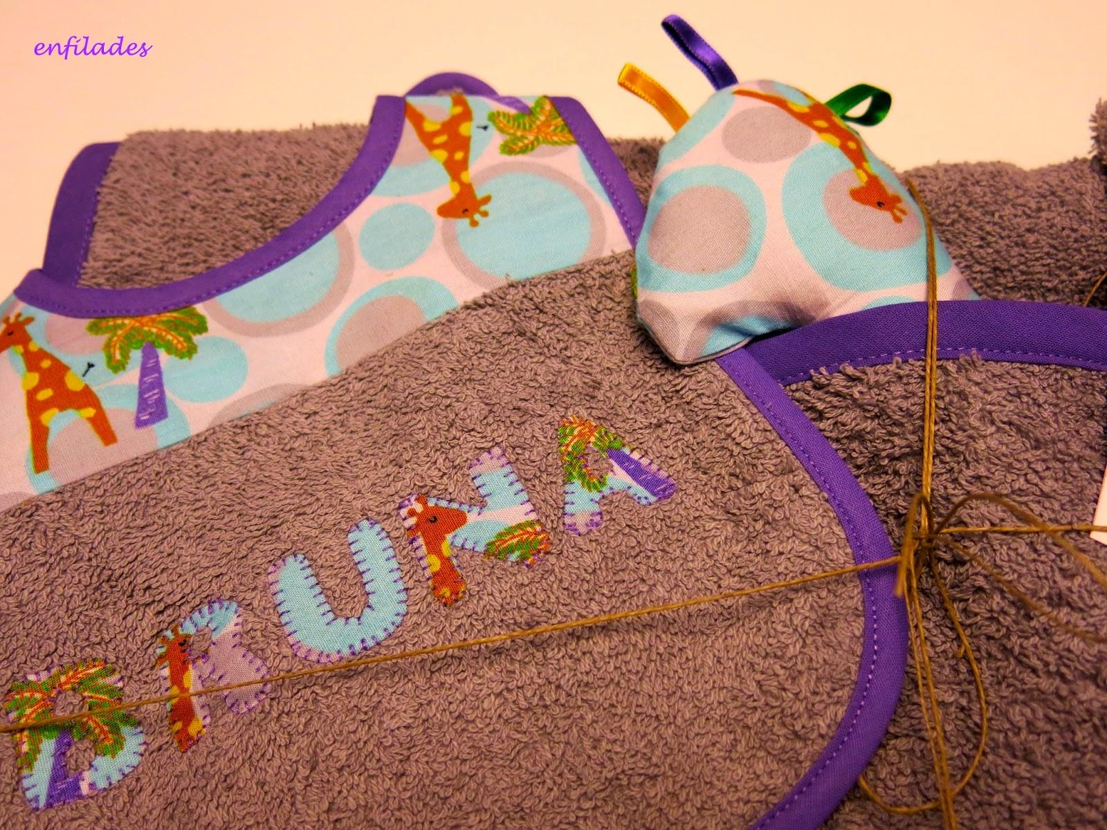 conjunt girafetes fet a mà per nadons Enfilades.cat