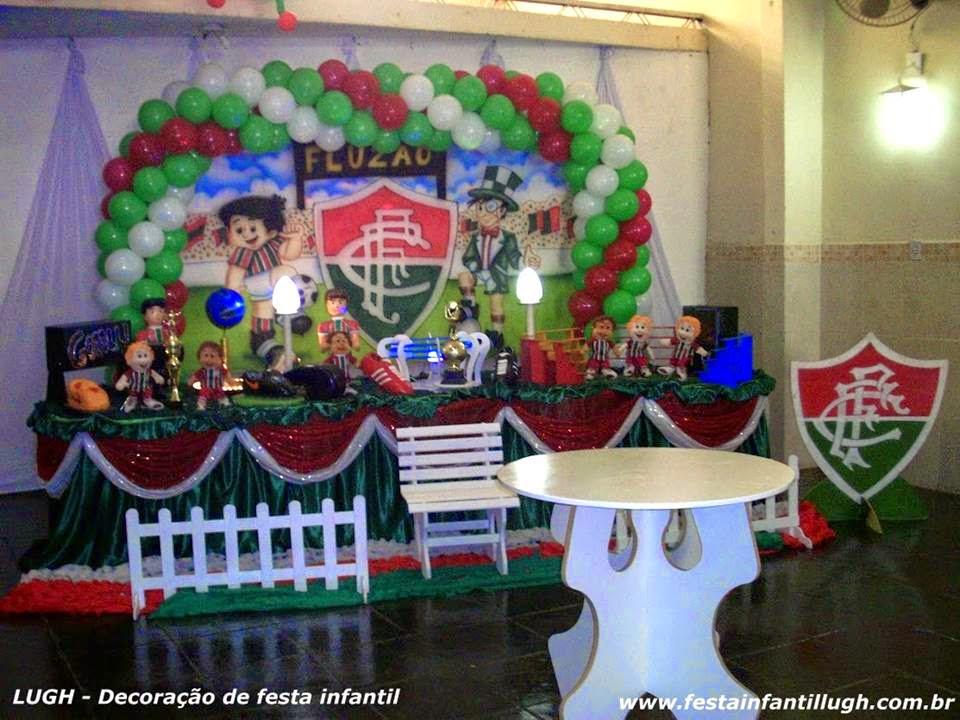 Tema Fluminense para decoração de festa infantil