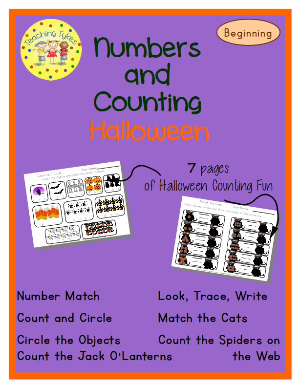 http://www.teacherspayteachers.com/Product/Halloween-Numbers-and-Counting-Beginners-EditionCommon-Core-Aligned-972318