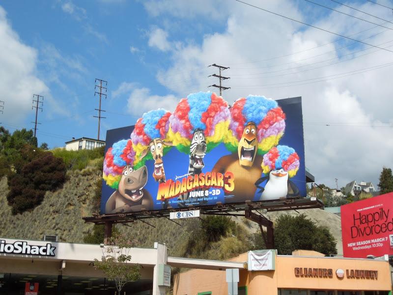 Madagascar 3 psychedelic afros billboard