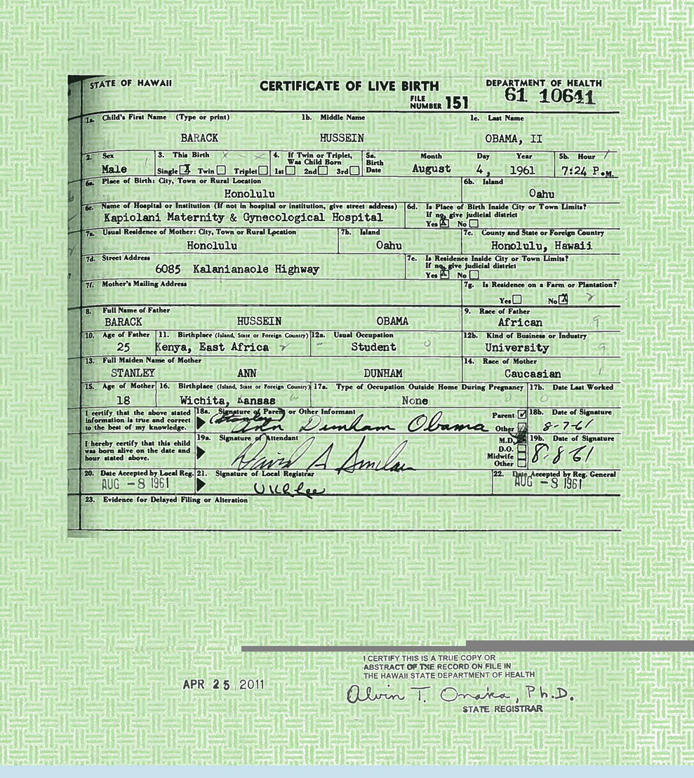 Ferret faced fascist friends usaps birth certificate found or why is susans number lower than usaps did they count backwards at kapiolani hospital is usaps birth certificate a fake or are we to accept the other aiddatafo Images