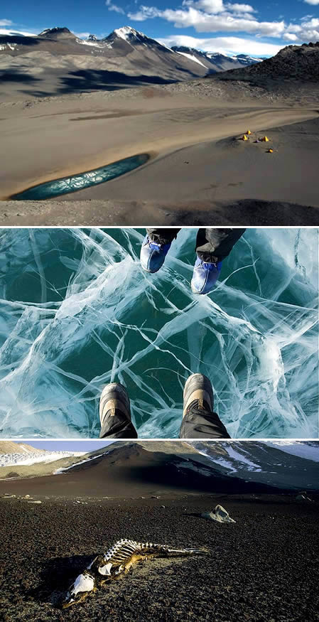 antartica اغرب 10 اماكن على وجه الارض