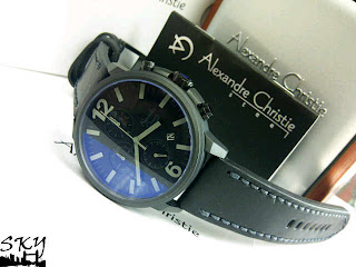 JAM TANGAN ALEXANDER CHRISTIE 6267 BLACK GREY