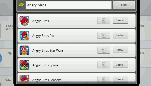 angry birds search
