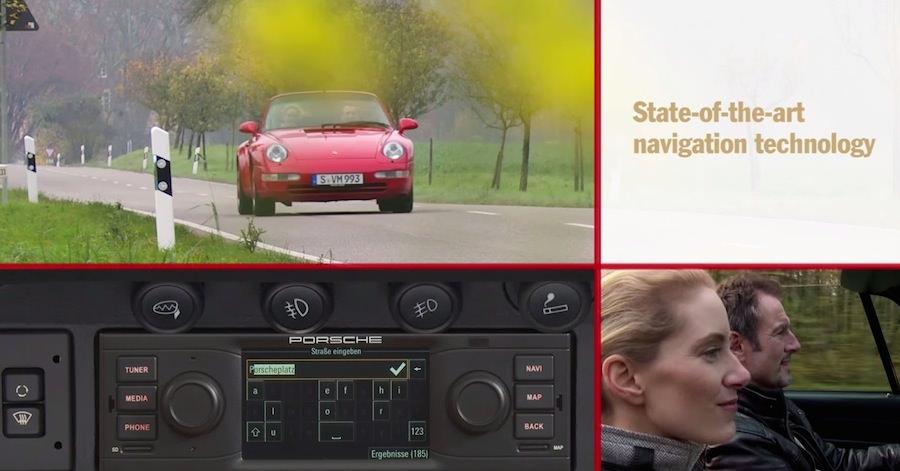 ポルシェ、古い「911」にも取り付け可能な純正Bluetoothナビをリリース