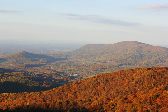 Blue Ridge Mountains in Virginia