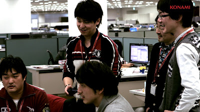Kei Masuda with PES 2013 team at Konami