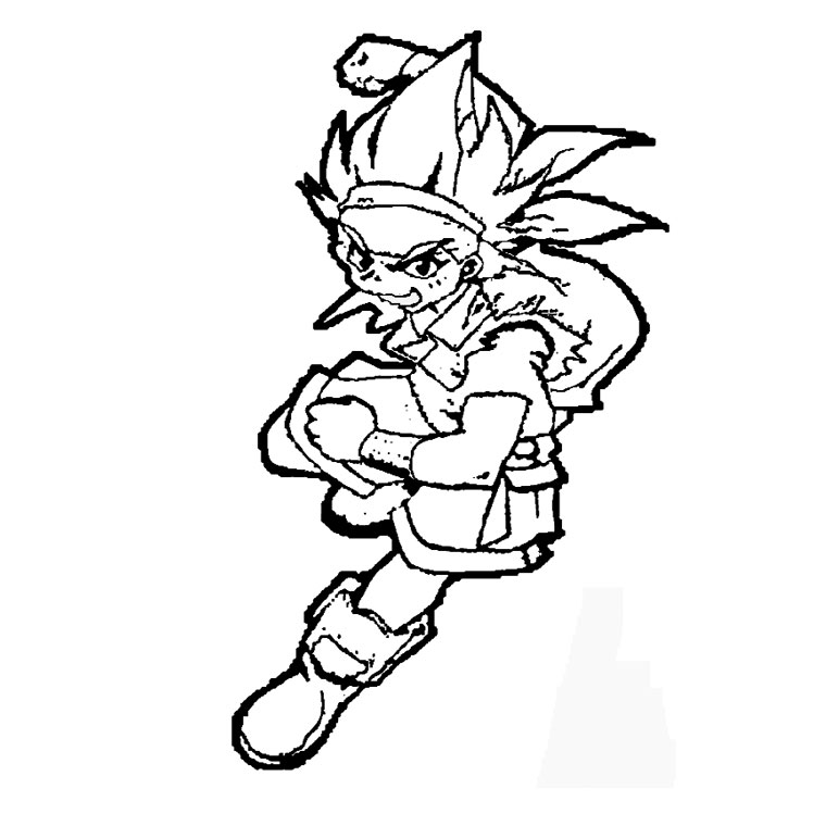 Coloriage Beyblade metal fusion