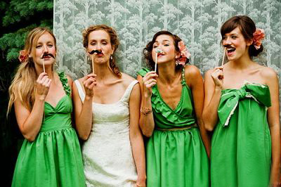 Green Bridal Party Dress
