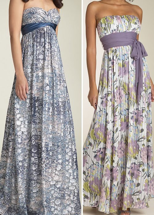 World style long garden party dress for Garden wedding party dresses