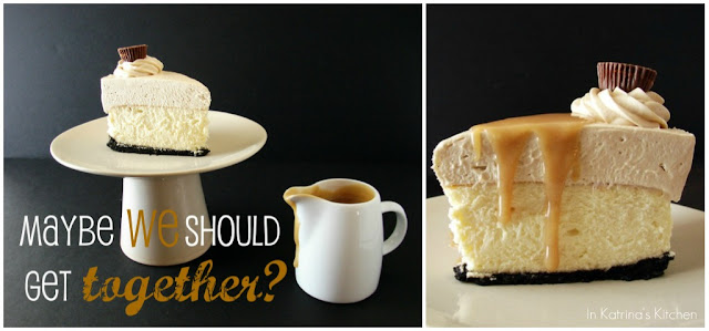 Peanut Butter Truffle Mousse Cheesecake #recipe from @KatrinasKitchen