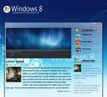 Windows 8 blogger template. template blogspot free