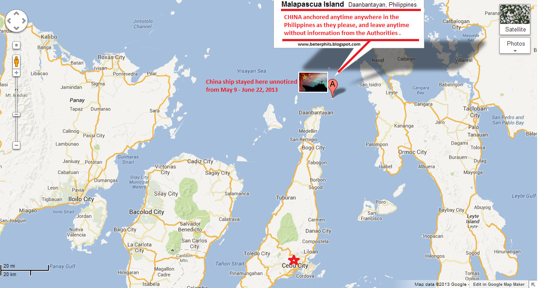 Chinese ship entered and anchored cebu malapascua for more for Bureau quarantine philippines