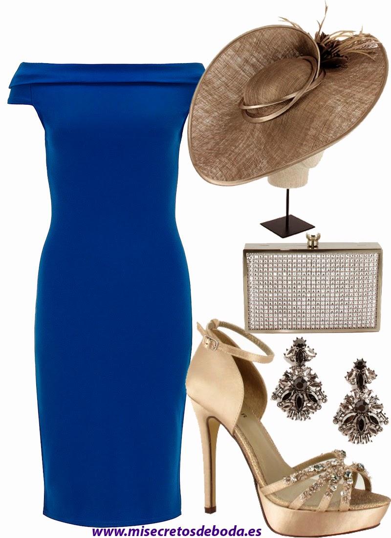Look Invitada Boda. Vestido Azul Klein Elegante.