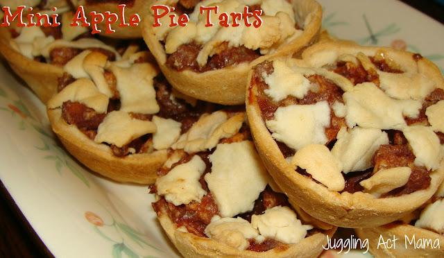 Mini apple pie tarts - get the recipe at jugglingactmama.com