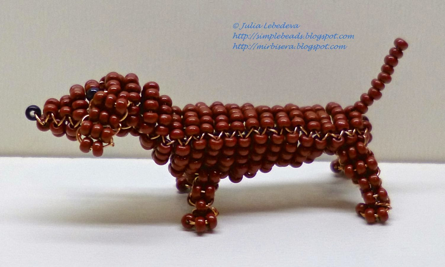Beaded dachshund