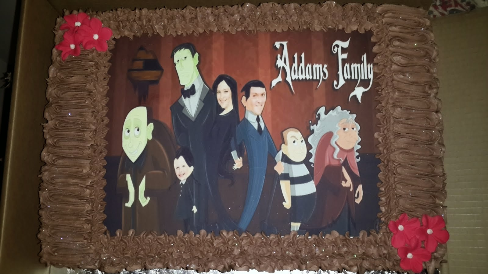The Adams Family Cake