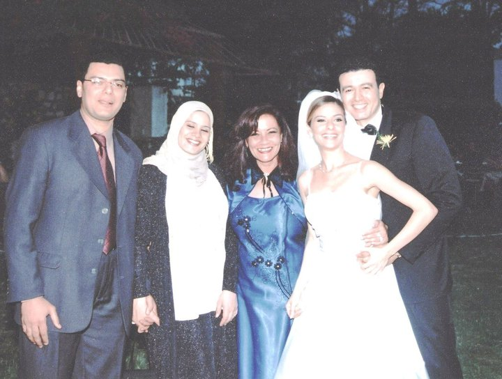 Hany, Engy pregnant, Nadine's Wedding and I in Center
