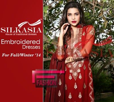 Silkasia Embroidered Dresses Collection 2014